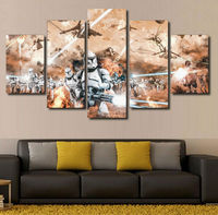 2017 Unframed Modern Canvas Painting Movie Decoration Wall Pictures For Living Room
