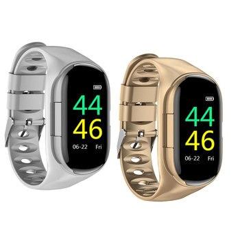 Heart Rate Blood Pressure Wristband 2-in-1 Bluetooth 5.0 Fitness Bracelet Wireless In-ear Type Headphone