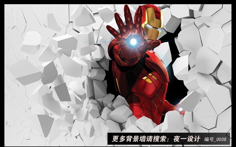 US $16.73 38% OFF3D Iron Man Photo Wallpaper Custom Wall Murals Amazing  Wallpaper Interior Art Decoration Boy Kids Bedroom TV background wall  Art-in