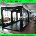 Customized inflate airtight tube car showcase transparent spray booth inflatable spray paint tent for car garage tents
