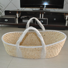 Newborn Baby Summer Suspension Sype Cotton Rope Manual Environment Cradle Basket Weave Design Crib Infant Safety