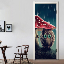 Cute Owl Door Stickers