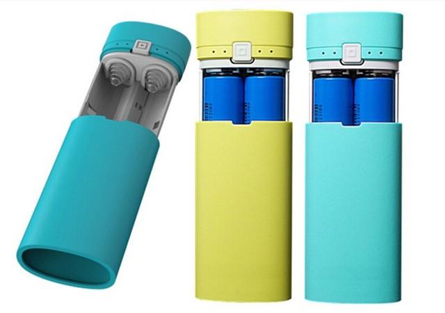 ¡ Nuevo! Ultra thin Caso Banco de la Energía protable 5600 mAh 5 V cable USB Kit 18650 Caja Del Cargador de Batería DIY #1