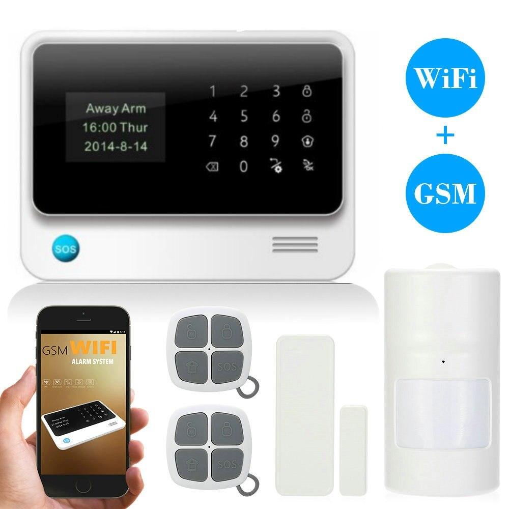 (1set) Home Design G90B Plus WiFi GSM Alarm System Sensor kit English Spansih Russian Smart Home WIFI GSM Burglar Alarm System