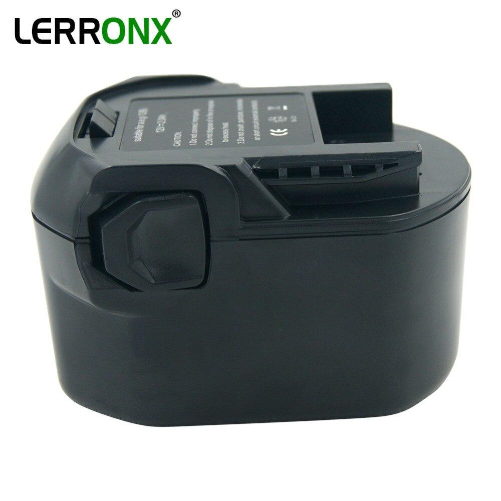 Batterie de rechange pour outils électriques Nicd 12 V 2000 mAh pour AEG Ridgid perceuses sans fil rechargeables batterie ni-cd B1214G B1215R B1220R