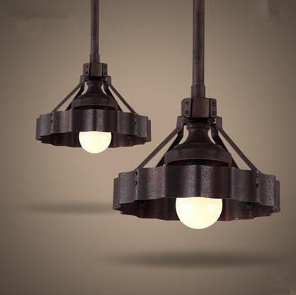 Métal Edison Loft Style Industriel Vintage Pendant Lights Simple