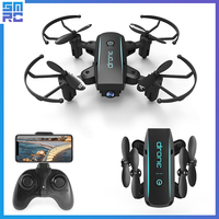 SMRC Mini Quadrocopter Pocket Drones with Camera HD small WiFi mine RC Plane Quadcopter race helicopter eachice S9 fpv Dron 4K