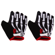 1 Pair Unisex Cycling Gloves Skeleton Bone Half Finger MTB Bike Bicycle Racing Cycling Gloves Guantes