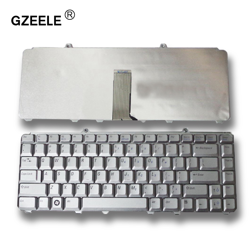GZEELE English New Laptop Keyboard For DELL PP41L M1530 For Vostro 1400 PP22L 1318 1545 PP29L For Inspiron 1520 1525 Silver US