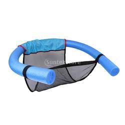 Alta qualidade poliéster piscina flutuante macarronete sling malha cadeira net para piscina cama assento diy-relaxamento de água