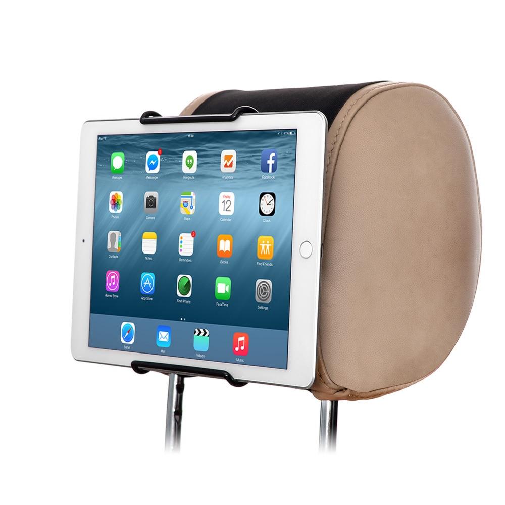 imágenes para Tfy coche reposacabezas titular de montaje para 7-11 pulgadas de tablet pc-para apple ipad de samsung galaxy tab & note-google nexus y más