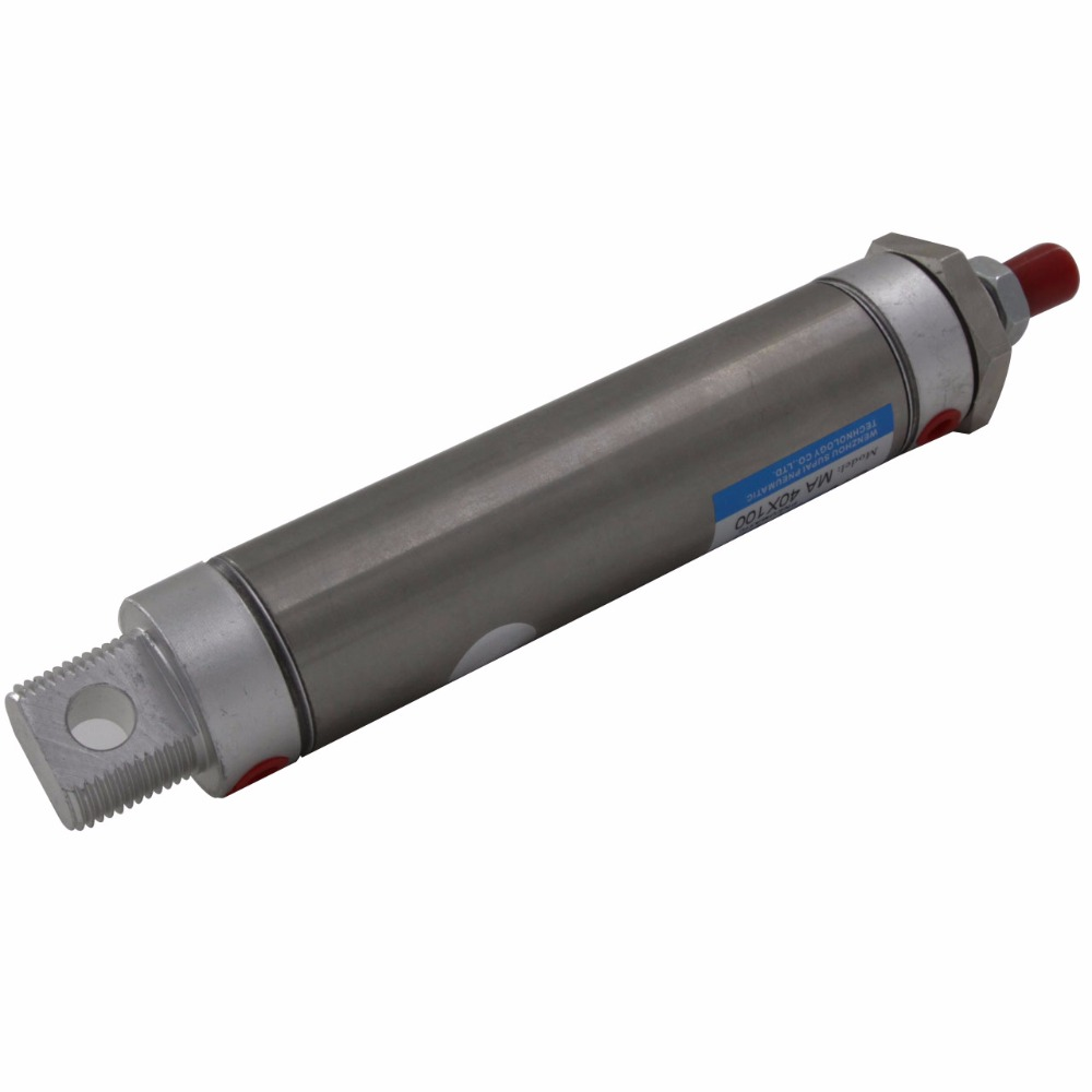 Free Shipping Stainless Steel Single Rod Double Action 40mm Bore 400/450/500mm Stroke Pneumatic Air Cylinder