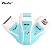 3 в 1 Электрический эпилятор для удаления мозолей на ногах, резак для волос, USB перезаряжаемая Беспроводная безболезненная Бритва для женщин 35