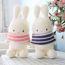 New Cute Cartoon Wave Rabbit Doll Filled Soft Plush White Toy Mimi Baby Comfort Pillow Child Girl Gift