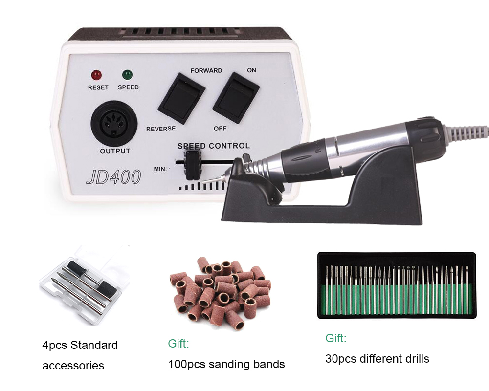 JD400 Micro Precision Electric Grinder, 35w 30000rpm Electric Nail Art Drill Machine Manicure and Pedicure цена