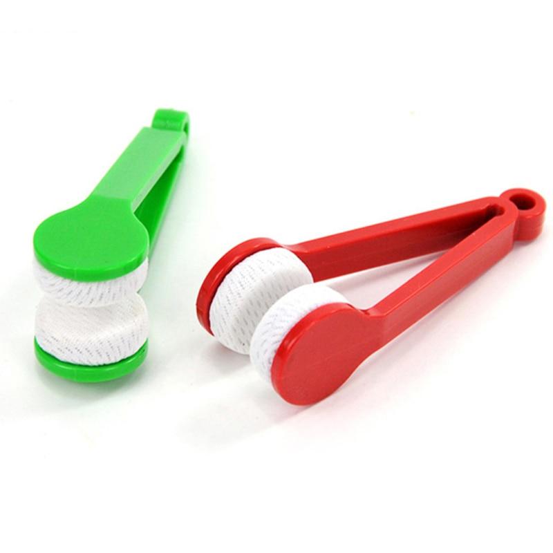 1 unidad, Mini cepillo para gafas de microfibra de dos lados, gafas de sol, limpiador de gafas, limpiador de gafas, cepillo de limpieza de pantalla, herramienta de limpieza