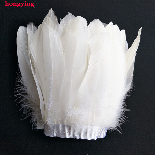 15 20cm White Feather Trim Goose Feathers T Fringe 2 Meter Lot Dress Cloths Making Craft