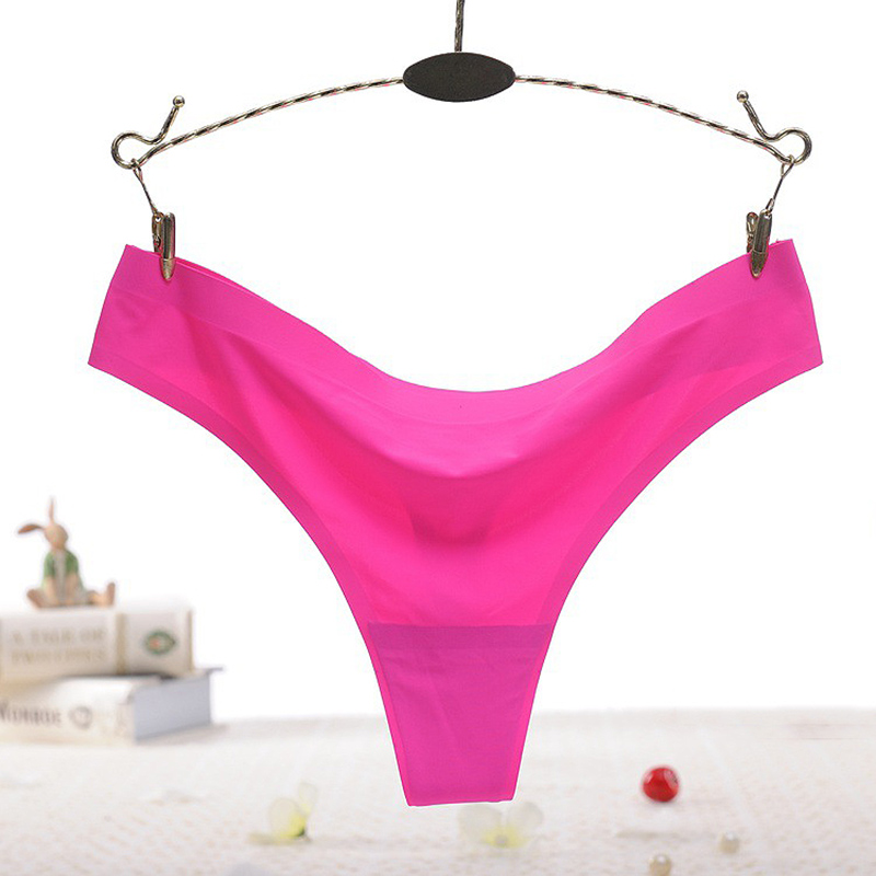 d1b20ecb1f19 High Quality Girls Hot Sale Underwear Lingerie 1PC Women Thong Solid  Seamless Cotton Ice Silk Popular Panties Sexy. Quantity:1PC