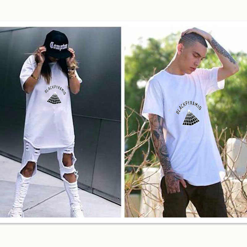 Fashion T Shirt Men Women 2017 Chris Brown New Brand BLACK PYRAMID Rap Hip Hop Men T-shirt Justin Bieber Summer Cotton Tees
