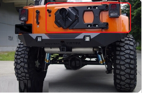 For Jeep JK Wrangler Heavy Duty Hinged Tire Carrier Adjustable Spare Tire  Mounting Kit,Rear Steel Sport Bumper Tire Carrier In Bumpers From  Automobiles ...