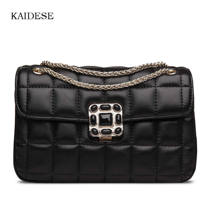 KAIDESE 2017 spring and summer new real leather sheepskin leather bag with a single shoulder slanted with a hand lock fashion ba kaidese 100% thai crocodile leather hand work system for 2017 new style real leather alligator bag lady big capacity hand bag