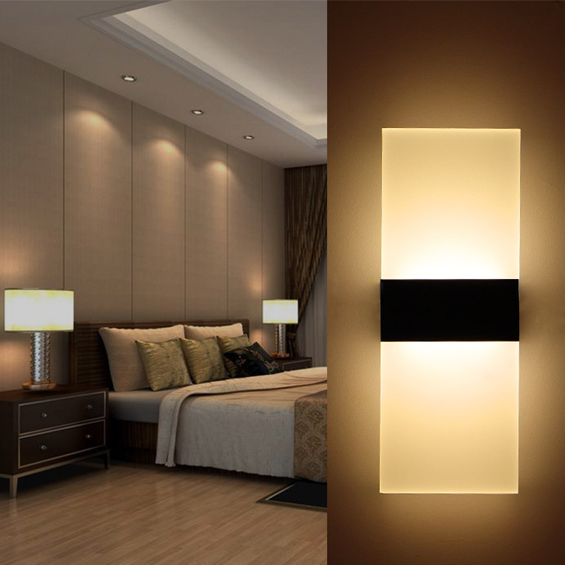 RAYWAY 3W 6W 12W Led Wall Lamp Bedroom Bedside Living Room Stairwell Aisle  Lamp Modern Brief Balcony Light Corridor Wall Sconce In LED Indoor Wall  Lamps ...