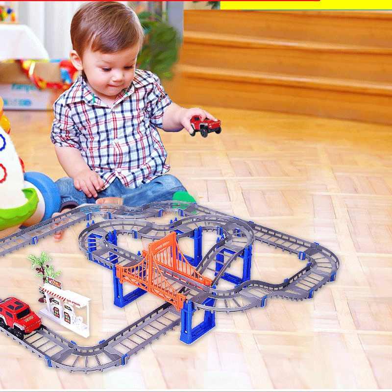 Modelo Eléctrico Carretera Carreras Para Pista Tren Conjunto Juguete Bebés De Transporte Niños PTZOikXu