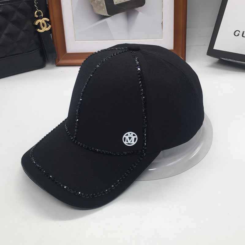 new web celebrity baseball caps black diamonds M standard curved eaves cap men and women street modelling handsome stylish hat 35colors silver gold soild india scarf cap warmer ear caps yoga hedging headwrap men and women beanies multicolor fold hat 1pc