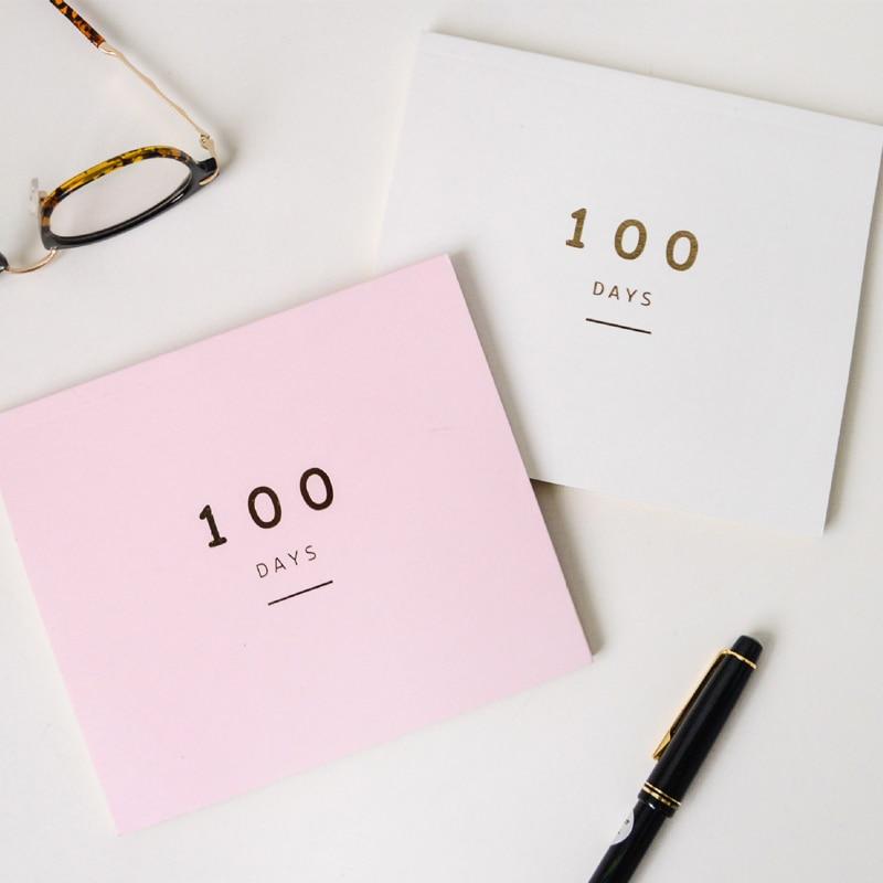 EZONE Agenda Creativa de Cien Días Cuadernos de Papel Plan Mensual - Blocs de notas y cuadernos