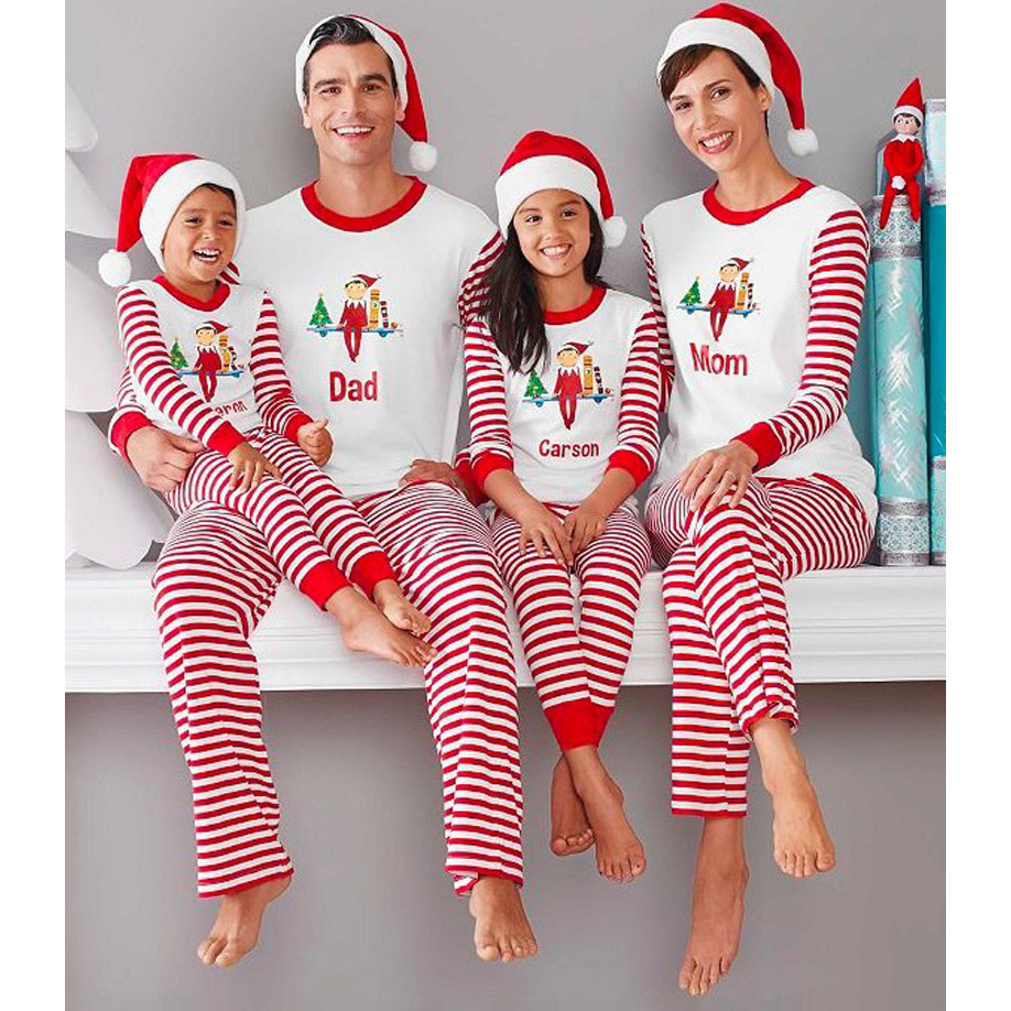 Christmas Pajamas Family Look Father Son Matching Clothes Kids Warm Long Sleeve Sleepwear Matching Mother And Daughter Clothes