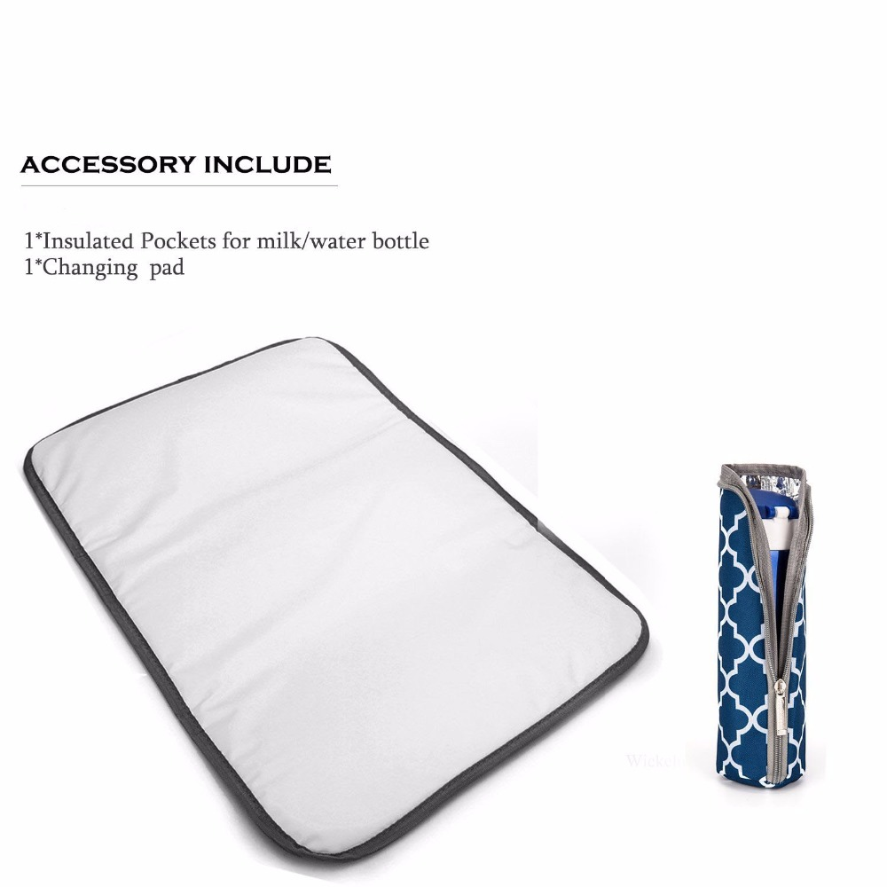 Fashion Mummy Maternity Nappy Bag Backpack With Changing Pad Large Capacity Stroller Bag For Mom Baby Bag Organizer Nursing Bag
