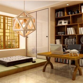 все цены на contracted solid wood droplight personality The Nordic wood living room lamp light geometry log LED lamps and lanterns онлайн