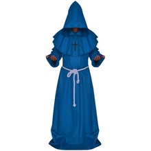Monk Druid Halloween Costume With Robe Cloak For Adult Men