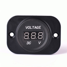 Automotive digital voltage meter |Motorcycle car RED ABS with small panel on sale