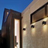 10PCS 6W Simple Modern LED Aluminum AC85 265V Semi Circular Garden Up And Down Waterproof Outdoor Wall Lamp Porch Light