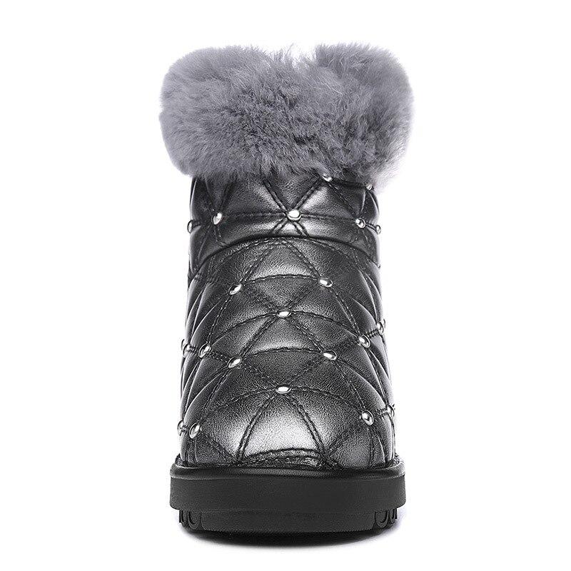Nieve Zapatos color De Gruesa Mujer Invierno Color Moolecole 2 Botines Piel Botas Impermeables 2018 Plataforma Nueva Mujeres 1 La Las Con pqP01H