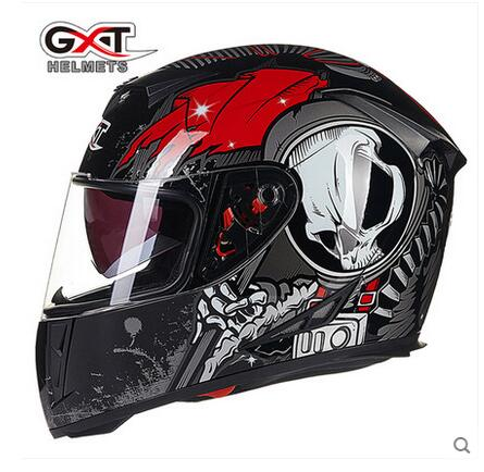 New GXT black red Skull full face Motorcycle Helmet Motocross Moto Racing knight Motorbike  helmets made of ABS  Colors nenki motorcycle helmets motocross racing helmet motorbike full face helmet capacete de moto for men and women 13 color