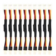 10 pièces 3PIN réduire PC ventilateur vitesse bruit Extension résistance câble fil 3 broches mâle à femelle connecteur pour PC ventilateur