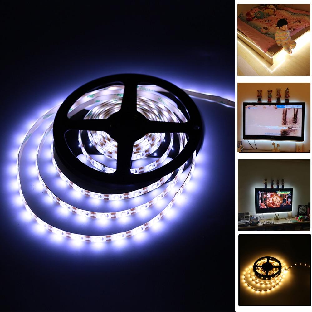 5 V usb-кабель светодиодный полосы света ТВ фонового освещения 1 м 2 м 3 м 4 м 5 м светодиодный SMD2835 полосы света RGB Теплый Холодный белый Desktop Экран