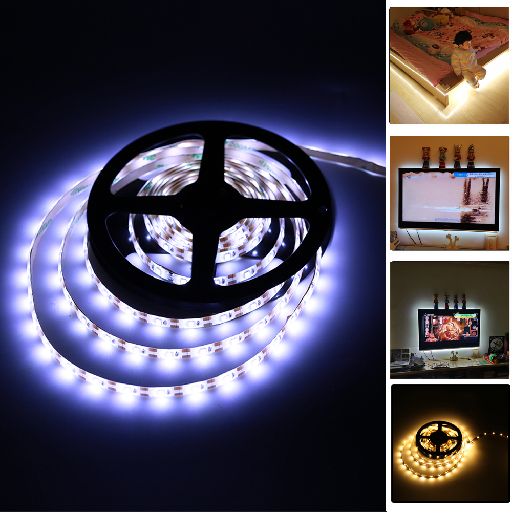 5 V-usb-kabel LED-strooklamp TV-achtergrondverlichting 1 m 2 m 3 m 4 m 5 m SMD2835 LED-strip RGB-licht Warm Koel wit Desktopscherm