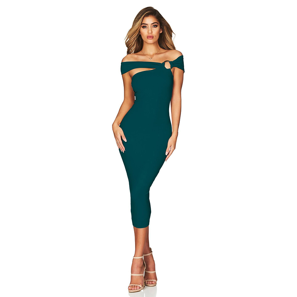 Adyce 2019 New Arrivals Summer Women Bandage Dress Vestido Off  Shoulder Celebrity Runway Party Dress Sexy Hollow Out Club Dress