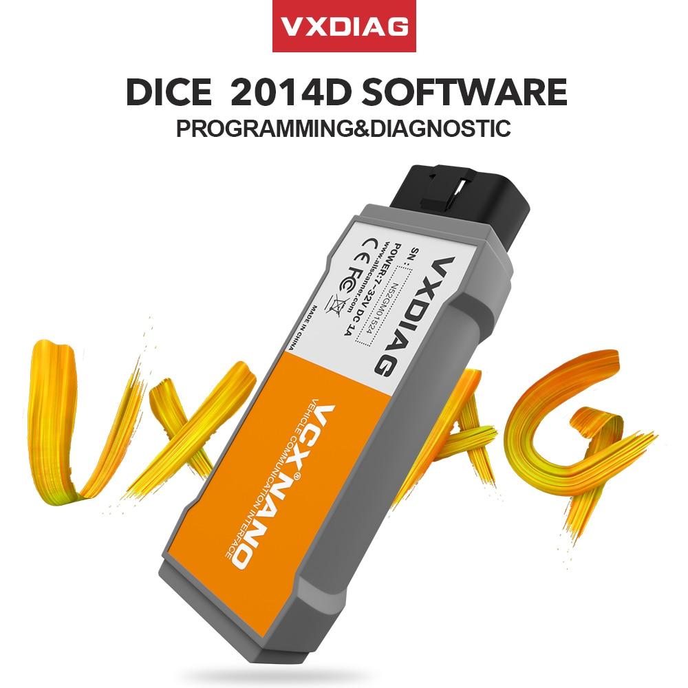 VXDIAG VCX NANO OBD2 Diagnostic Tool For VOLVO Dice 2014D Code Scanner Obd2 Car Diagnostic Automotivo VIDA DICE 2014D Pro J2354