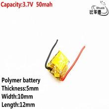 Литровая энергетическая батарея хорошего качества 3,7 в полимерная литиевая батарея 50 мАч 501012 подходит для I7 bluetooth гарнитура MP3 MP4