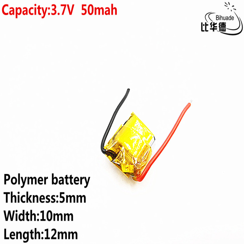 Liter Energy Battery Good Qulity 3.7v Polymer Lithium Battery 50mah 501012 Is Suitable For I7 Bluetooth Headset MP3 MP4
