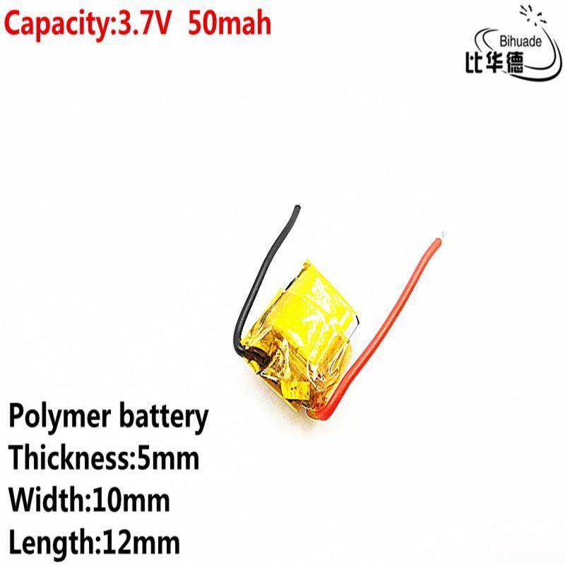 Litre énergie batterie bonne qualité 3.7 v polymère lithium batterie 50 mah 501012 est adapté pour I7 bluetooth casque MP3 MP4