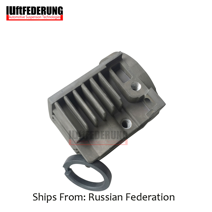 Luftfederung New Air Suspension Pump Compressor Cylinder Head With Piston Ring Repair Kits For VW Touareg 7L0698007D 4L069 8007D