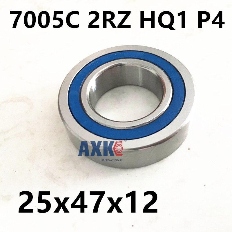 1pcs AXK 7005 7005C 2RZ HQ1 P4 25x47x12 Sealed Angular Contact Bearings Speed Spindle Bearings CNC ABEC-7 SI3N4 Ceramic Ball 1pcs mochu 7005 7005c 7005c p5 25x47x12 angular contact bearings spindle bearings cnc abec 5