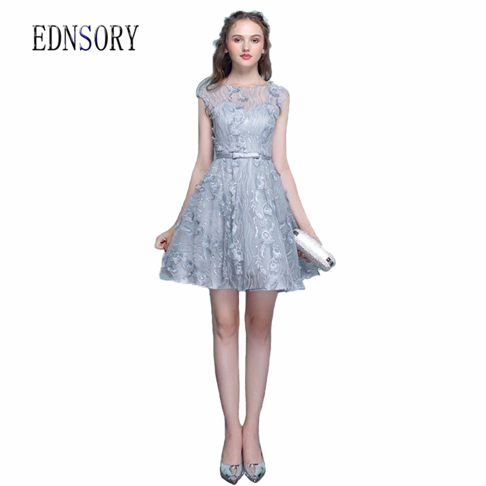 Bridesmaid dresses silver promotion shop for promotional vestidos de festa long silver dresse prom party dress bridesmaid dresses 2017 floral print lace a line o neck formal gown ombrellifo Image collections