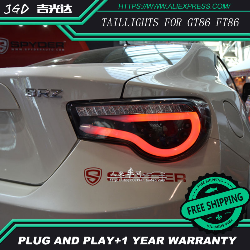 Car Styling Tail Lights For Toyota GT86 FT86 Taillight LED Tail Lamp Rear Trunk Lamp Cover Drl+signal+brake+reverse