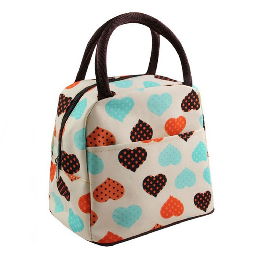 ABDB Women Man Insulated Lunch Bag Tote Thermal Cooler Picnic Travel Food Box Handbag